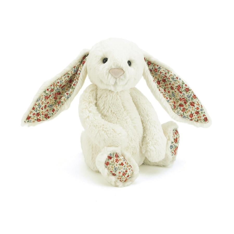 Jellycat Blossom Bunny in Cream with Flower Prints on ears | Buy Jellycat Singapore Kids Baby Soft Toys at The Elly Store