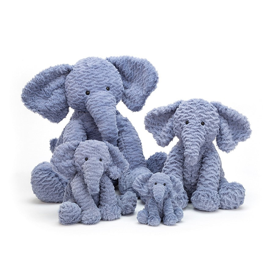 Jellycat Animals Fuddlewuddle Elephant in Blue | Buy Jellycat Singapore Kids Baby Soft Toys at The Elly Store