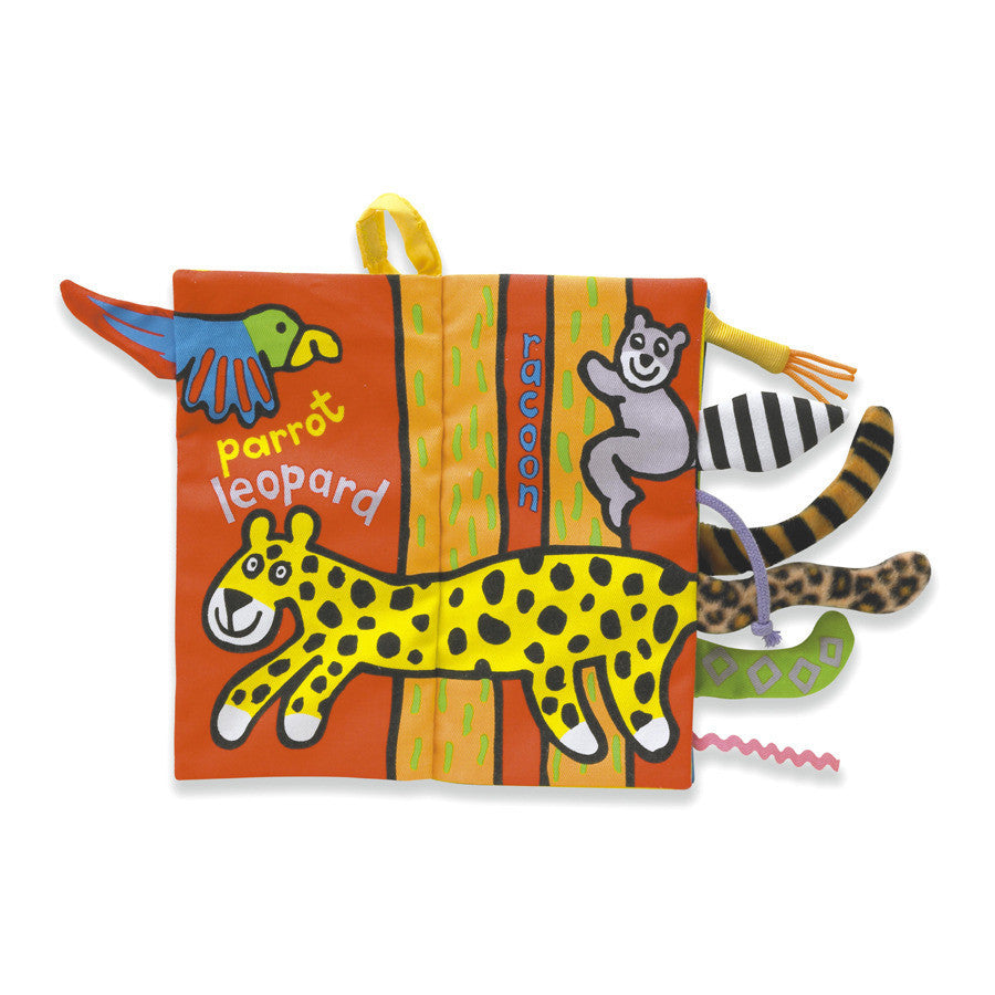 Jellycat 'Jungly Tails' Soft Book Cover | Buy Jellycat Books for baby & early readers at The Elly Store Singapore
