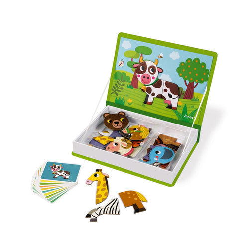 janod magneti' book animals magnets cards cow