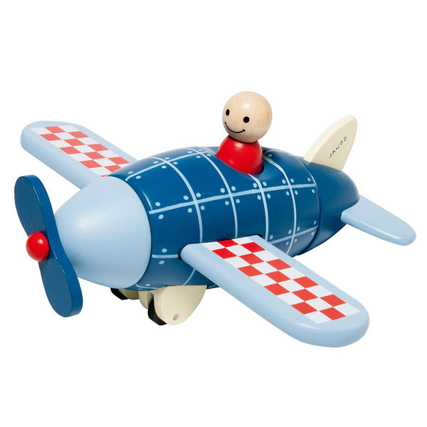 janod magnetic airplane wooden toy