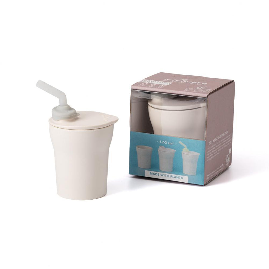 Miniware 1-2-3 Sip! Cup (Vanilla and Grey)