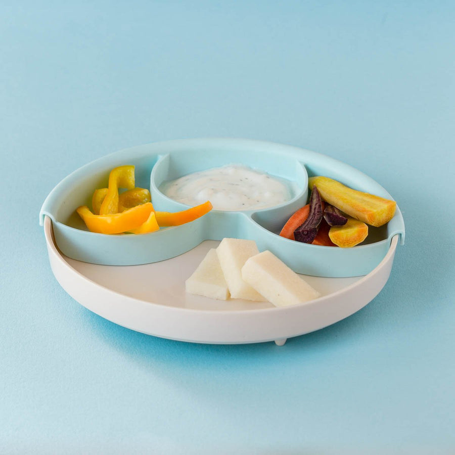 Miniware Healthy Meal Set - Grey and Aqua | The Elly Store