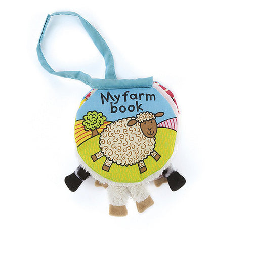Jellycat 'My Farm Book' Soft Book Cover | Buy Jellycat Books for baby & early readers at The Elly Store Singapore