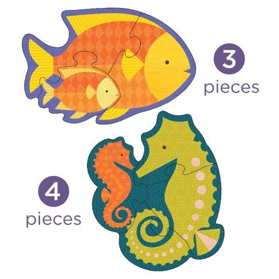 Petit Collage Ocean Babies Beginner Puzzle Kids Toys