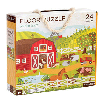 Petit Collage On The Farm Floor Puzzle Kids Toys