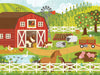 Petit Collage On The Farm Floor Puzzle Illustration