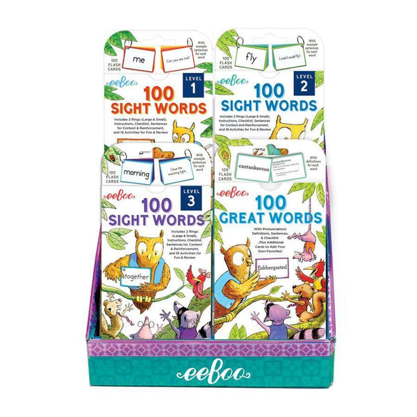 eeBoo - 100 Great Words Flashcards Educational Games Singapore