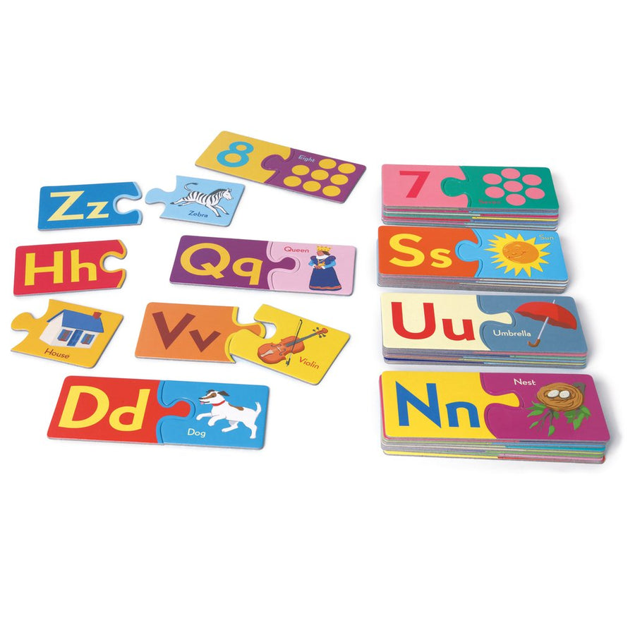 Puzzle Pairs - Alphabets & Numbers (Square Box)