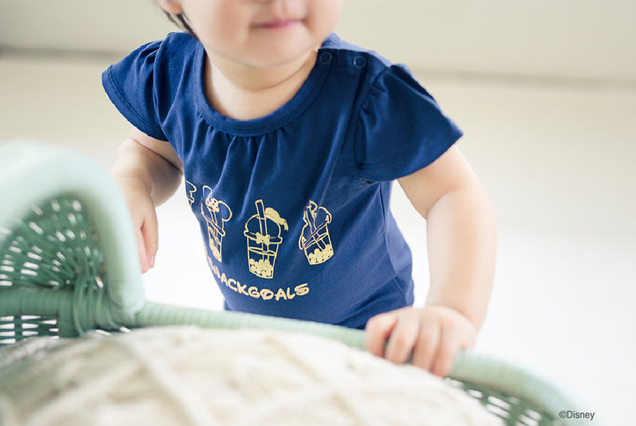 Paige Onesie - Navy Gold Bubble Tea Mickey