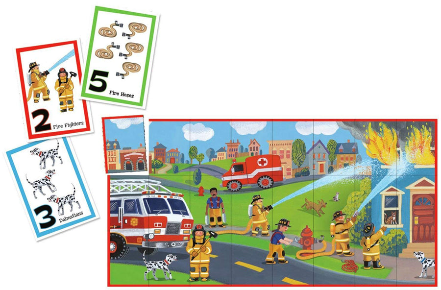 Peaceable Kingdom Fire Rescue Color Match Up Game