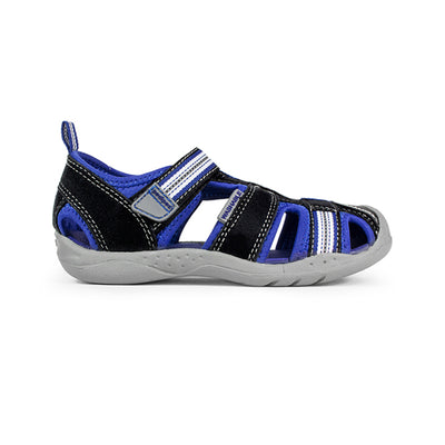 Pediped Flex Sahara Black / King Blue Adventure Sandals | The Elly Store