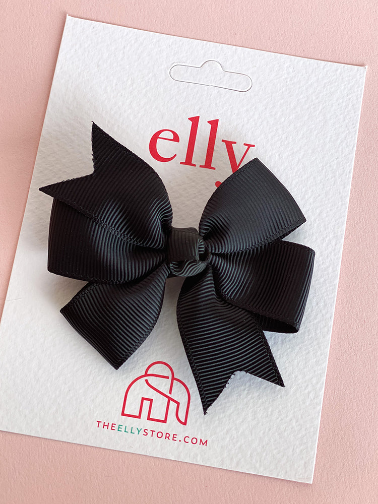Pinwheel Bow Black | Girls Hair Accessories | The Elly Store