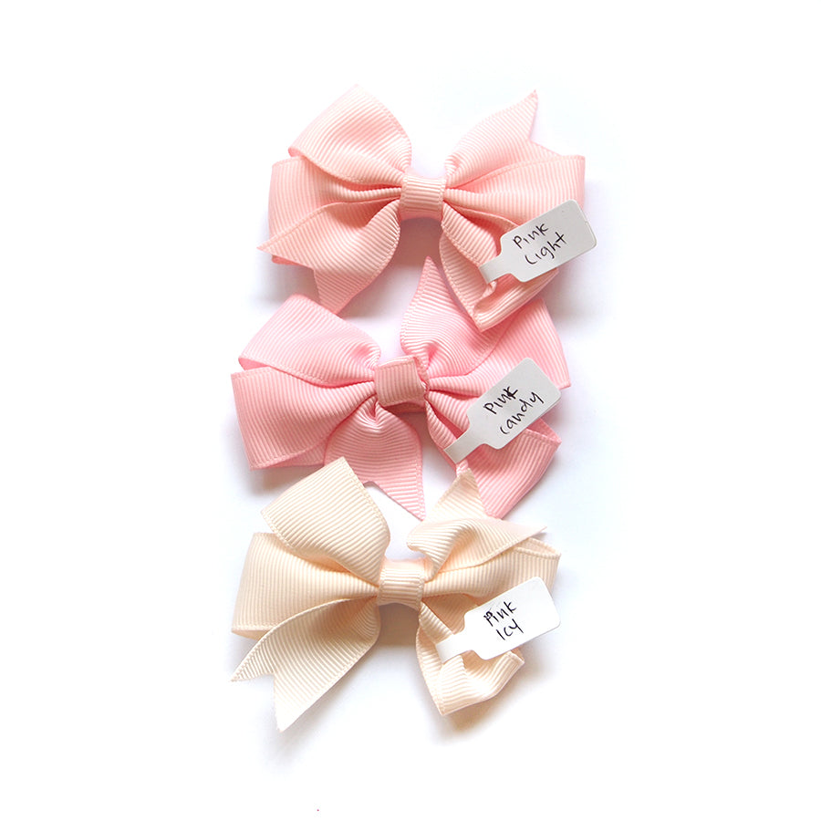 Pinwheel Bow - Light Pink