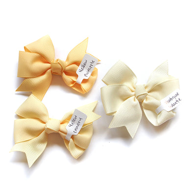 Girls Hair Bow Yellow Pineapple Pinwheel Bow | The Elly Store
