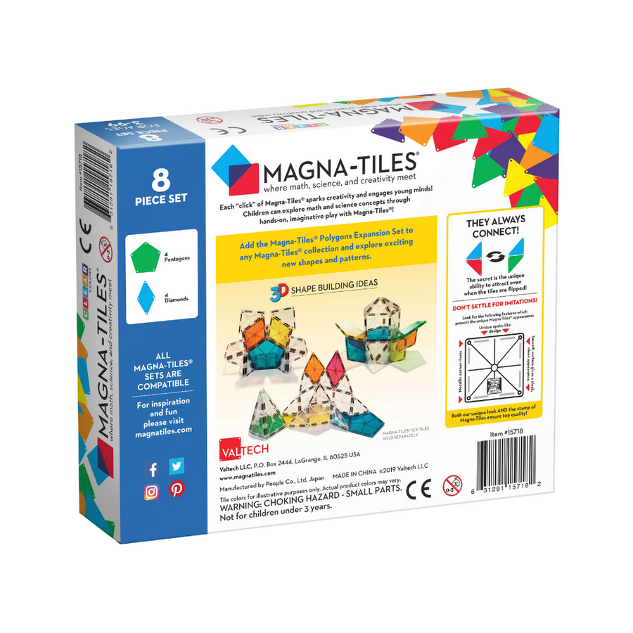 Polygons 8 Piece Expansion Pack Magna-Tiles