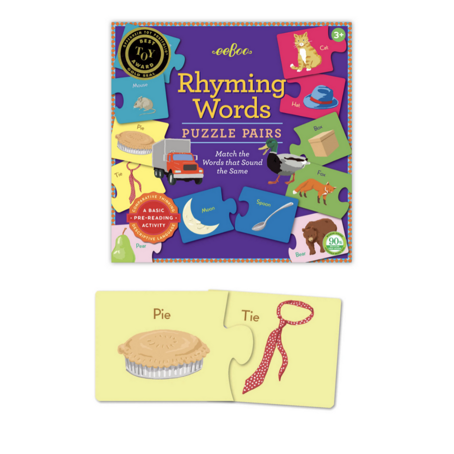 Puzzle Pairs - Rhyming Words (Square Box)