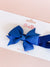 Pinwheel Bow Headband - Blue Cobalt