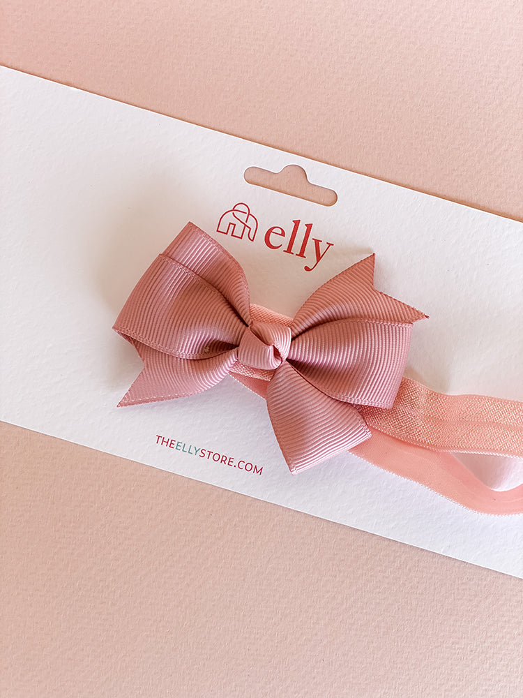 Pinwheel Bow Headband Dusty Pink | Hair Accessories | The Elly Store