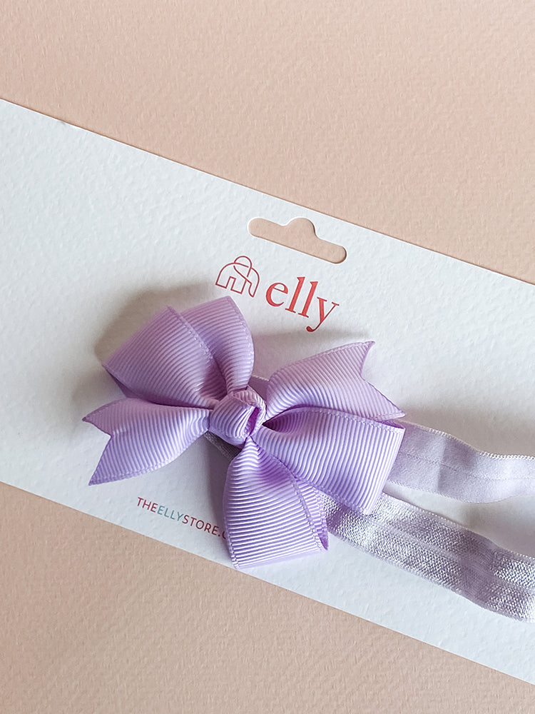 Pinwheel Bow Headband - Lilac Purple