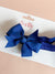 Pinwheel Bow Headband - Light Navy
