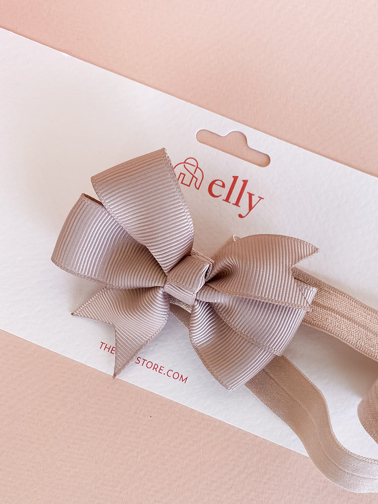 Pinwheel Bow Headband Taupe | Hair Accessories | The Elly Store