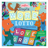 eeboo simple word lotto matching game kids illustrated educational game cover
