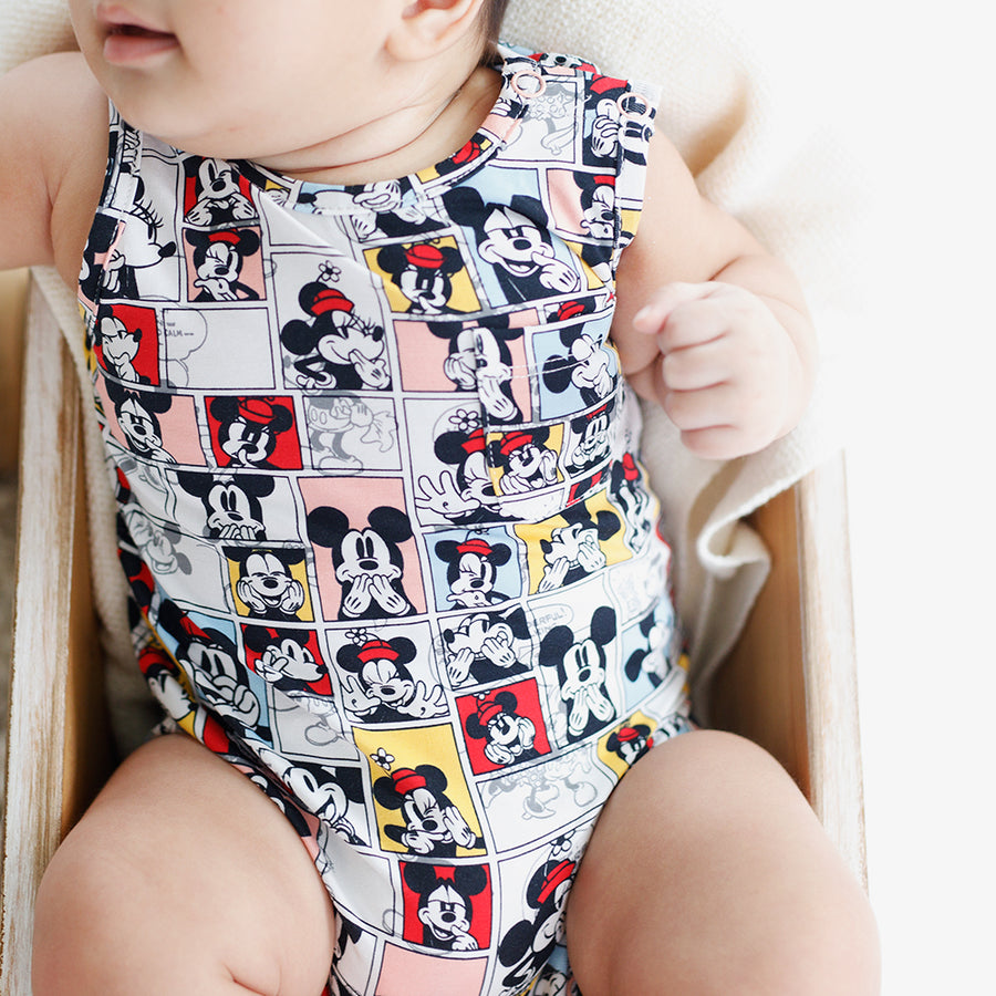 Disney x elly collection | Sleeveless Romper Pop Comic Mickey