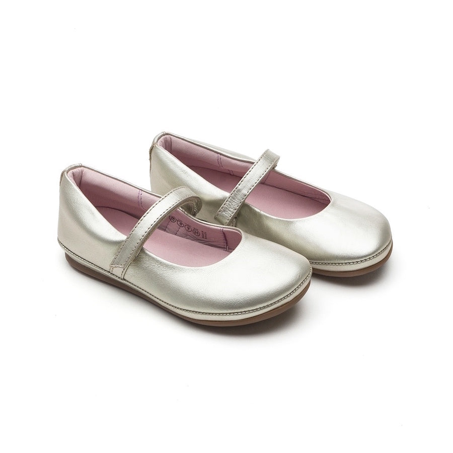 Little Twirl Mary Jane Shoes White Gold