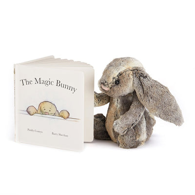 Bunny reading a Jellycat 'The Magic Bunny' Book | Buy Jellycat Books online for early reader at The Elly Store Singapore