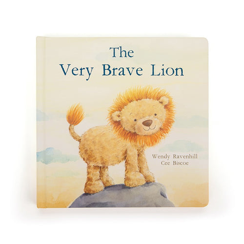 Jellycat 'The Very Brave Lion' Book Cover | Buy Jellycat Books online for early readers at The Elly Store Singapore