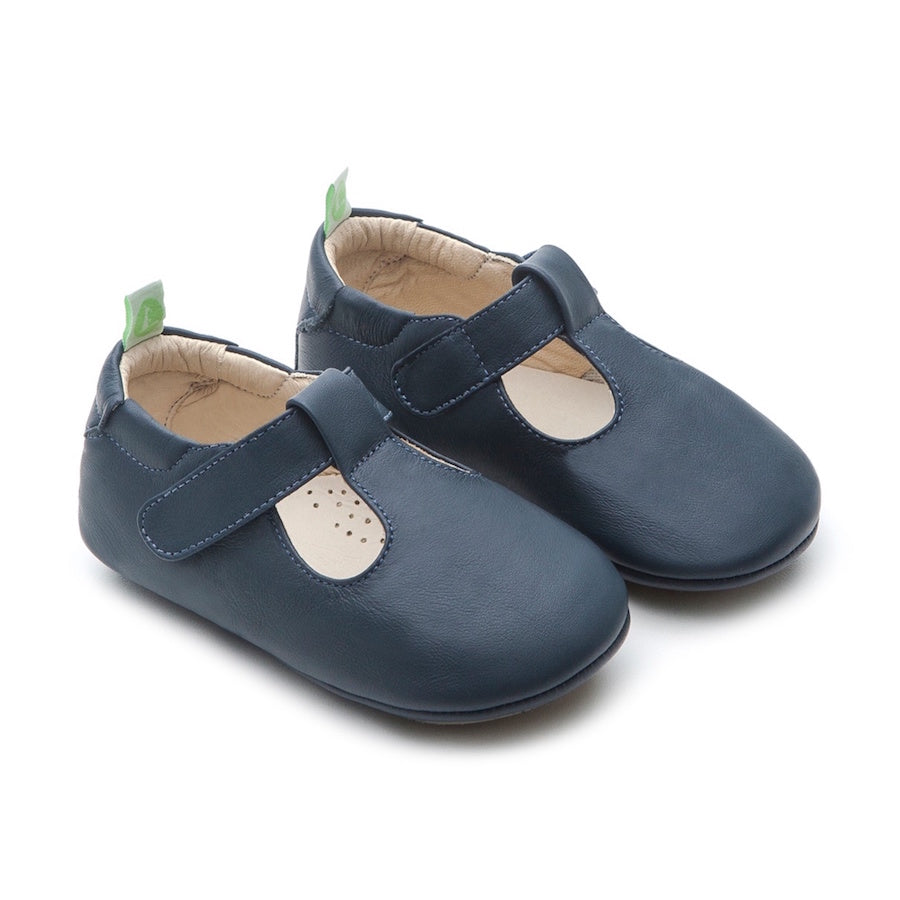 Tip Toey Joey Strappy Shoes Navy | Soft Soles, Prewalkers