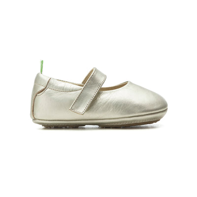 Tip Toey Joey Dolly White Gold Baby Shoes Prewalkers Soft Soles