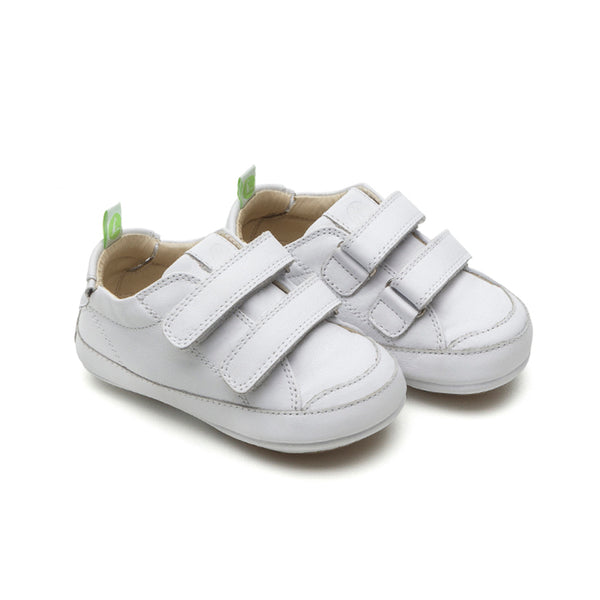 Tip Toey Joey Bossy White Soft Sole Prewalkers