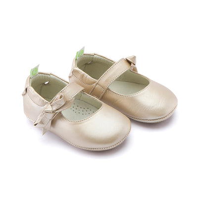 Tip Toey Joey Dorothy Fine Gold Baby Shoes
