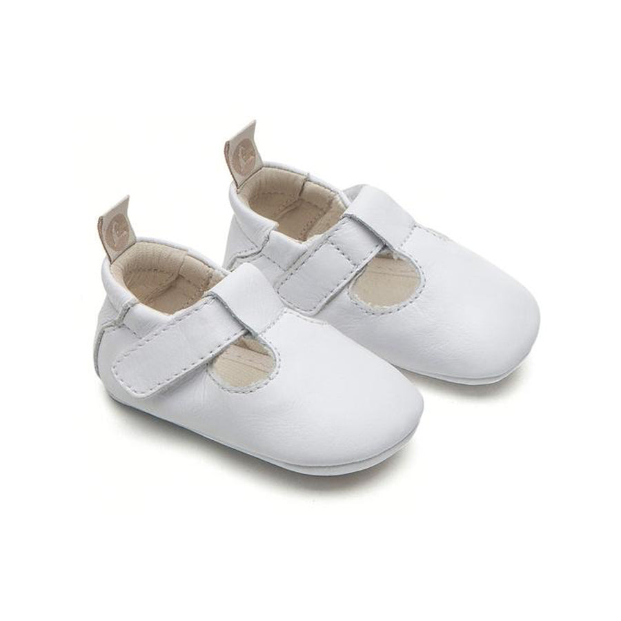 Tip Toey Joey Strappy White Baby Shoes
