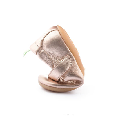 Tip Toey Joey Dolly Mary Jane Shoes Metallic Salmon | The Elly Store