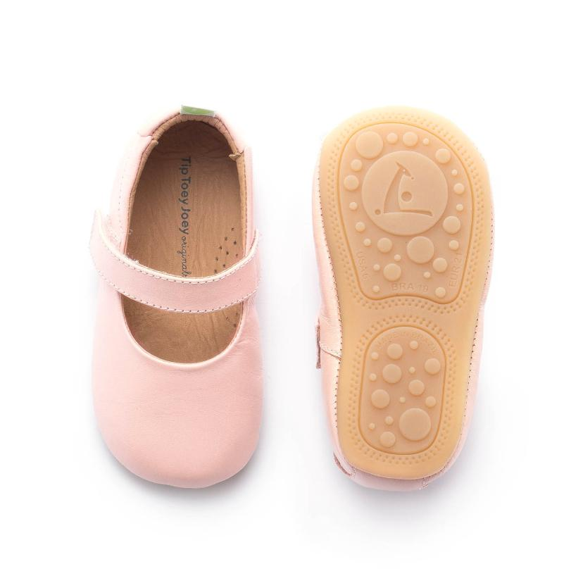 Tip Toey Joey Dolly Mary Jane Shoes Pink Sands Pearl | The Elly Store