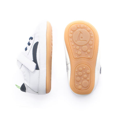 Tip Toey Joey Skidy Sneakers White/Navy | The Elly Store