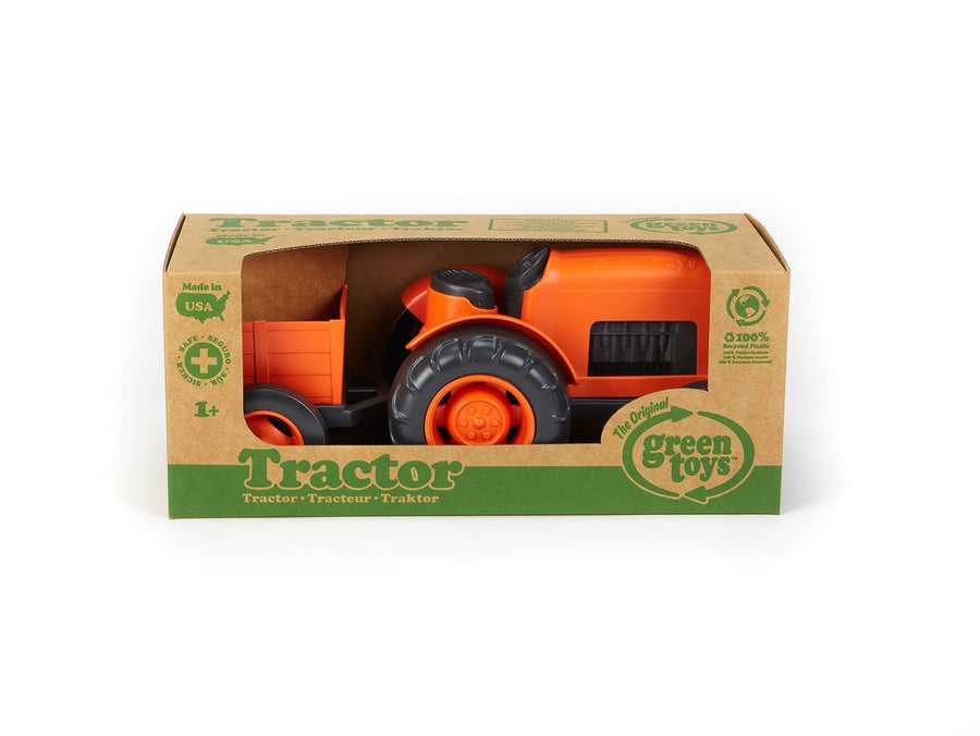 Tractor Orange from Green Toys, 100% recycled plastic, The Elly Store