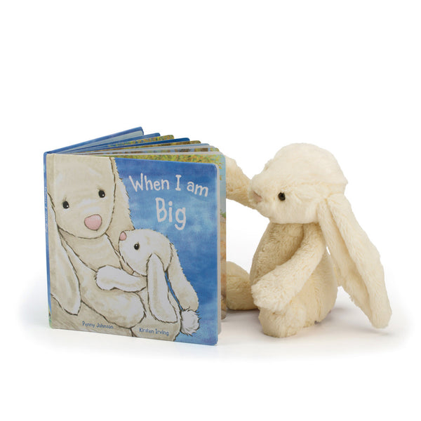 Bashful Bunny reading Jellycat 'When I Am Big' Book | Buy Jellycat Books online for Early Readers at The Elly Store Singapore