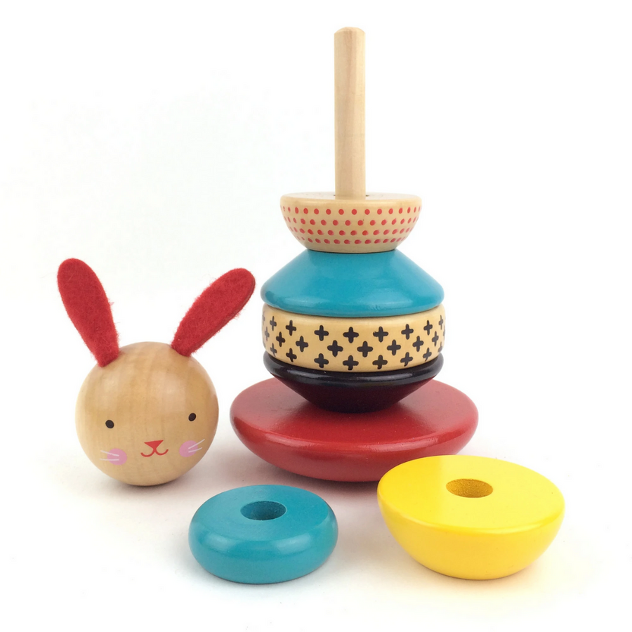Wooden Bunny Stacking Toy