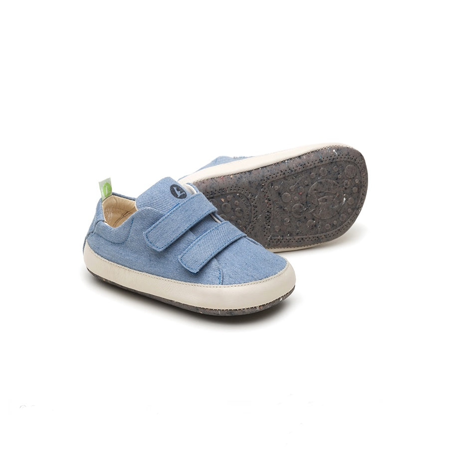 Bossy Green Sneakers - Light Denim Canvas