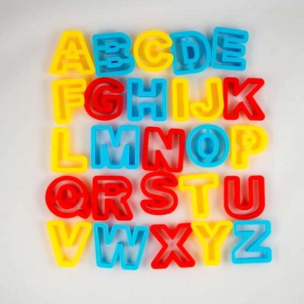 Alphabet Playdough Cutters