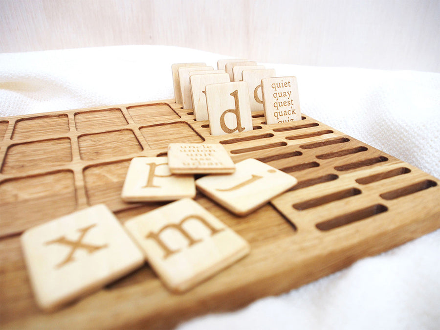 Alphabet Wooden Board with lowercase letters