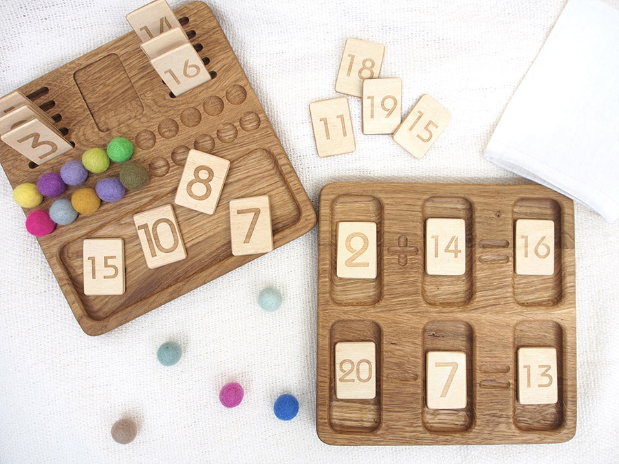 Wooden Math Board with set 1-20