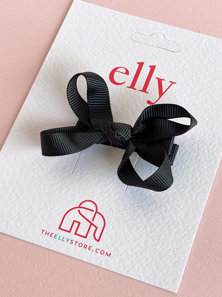 Twinkle Bow - Black | Girls Hair Accessories | The Elly Store