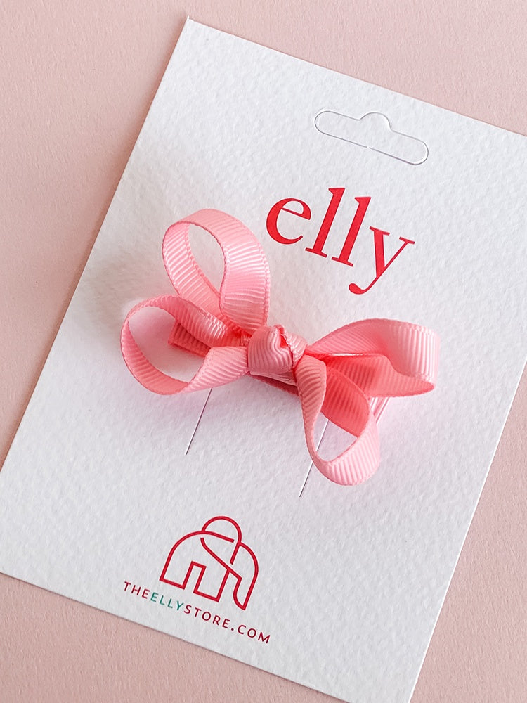 Twinkle Bow - Medium Pink | Girls Hair Accessories | The Elly Store
