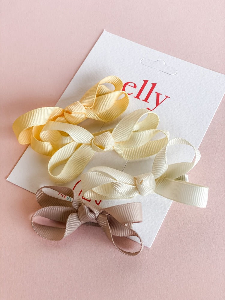 Twinkle Bow - Sunshine Set of 4 |  Hair Accessories | The Elly Store