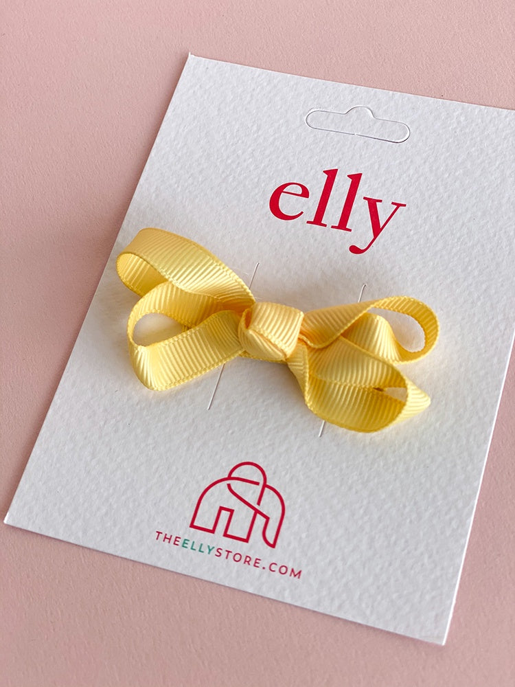 Twinkle Bow Pineapple Yellow | Hair Accessories | The Elly Store